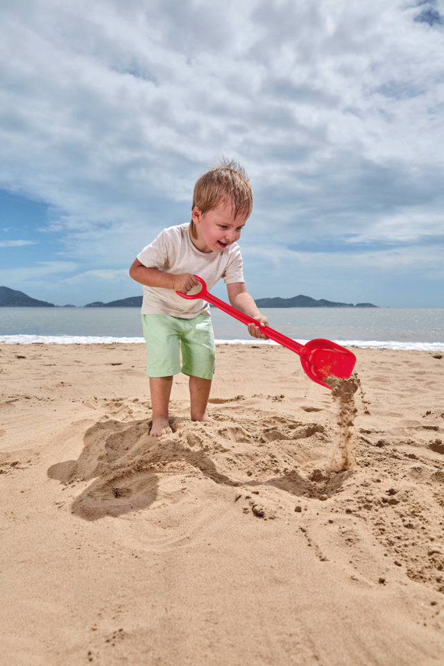 Hape Mighty Shovel - Red perfect for the sand or backyard play with quality outdoor toys The Toy Wagon