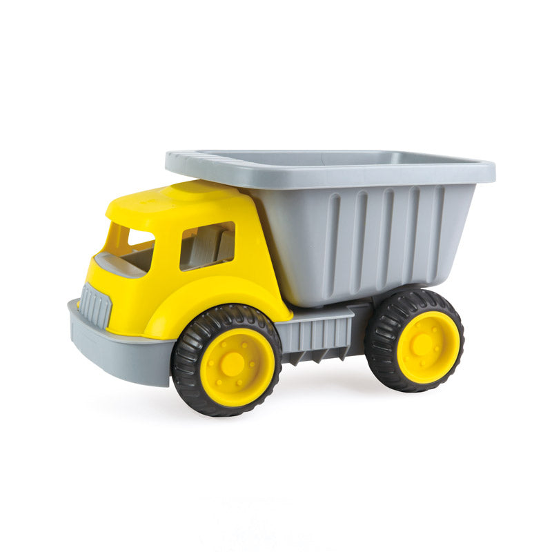 Hape Load & Tote Dump Truck perfect for the sand or backyard play with quality outdoor toys The Toy Wagon