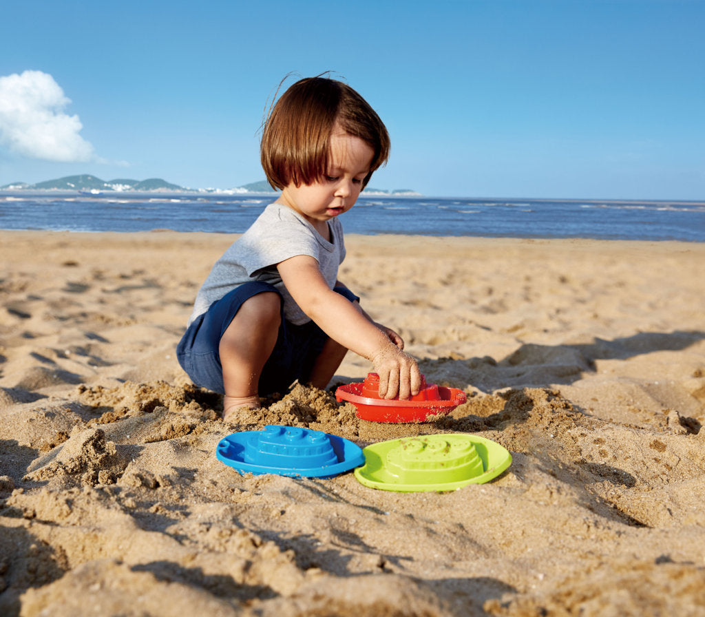 Hape Beach and Bath Boats perfect for the sand or backyard play with quality outdoor toys The Toy Wagon