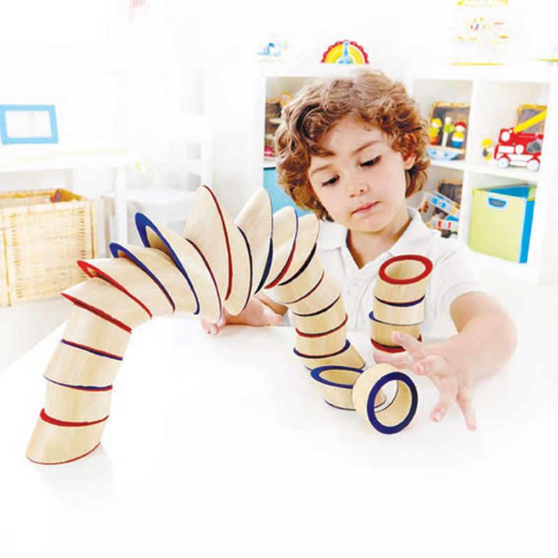 Hape Totter Tower perfect for little minds and hand, educational and high quality wooden toys The Toy Wagon