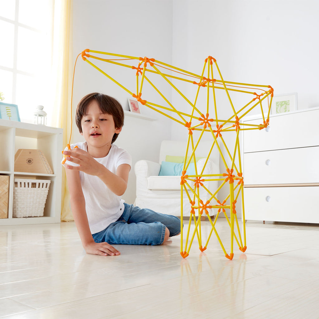 Hape Truss Crane perfect for little minds and hand, construction and educational high quality bamboo toys The Toy Wagon