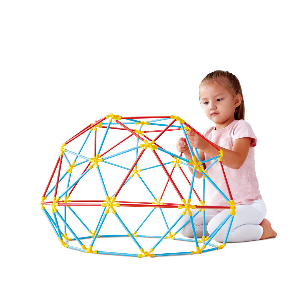 Hape Geodesic Structures perfect for little minds and hand, construction and educational high quality bamboo toys The Toy Wagon