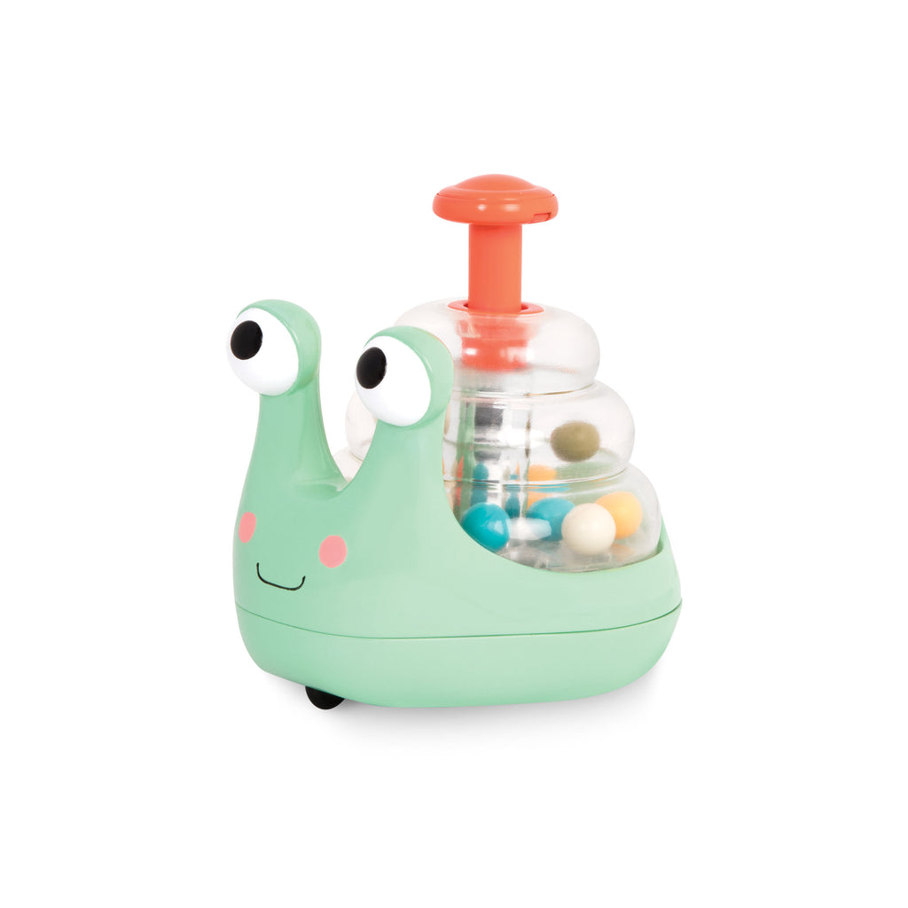 B. Rolling light-up snail popper baby toys The Toy Wagon