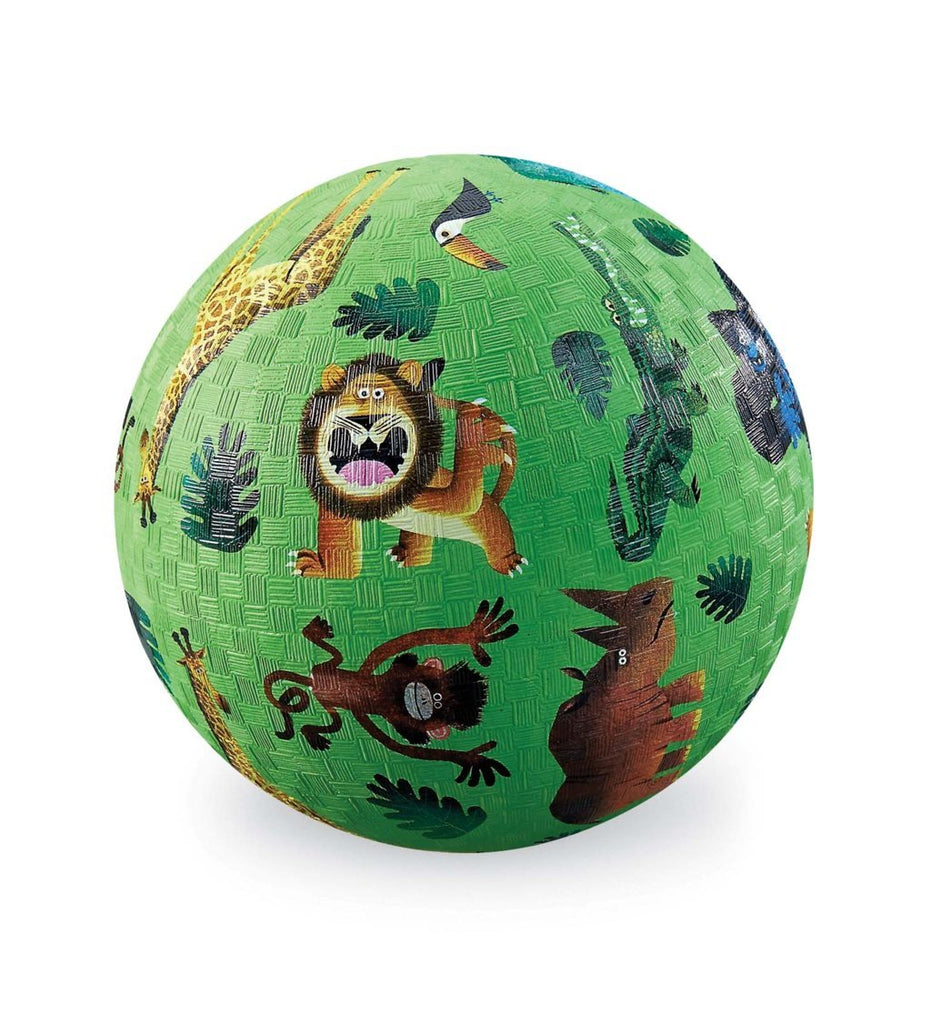 "Crocodile Creek 7"" Playground Ball Very Wild Animals quality outdoor toy The Toy Wagon"