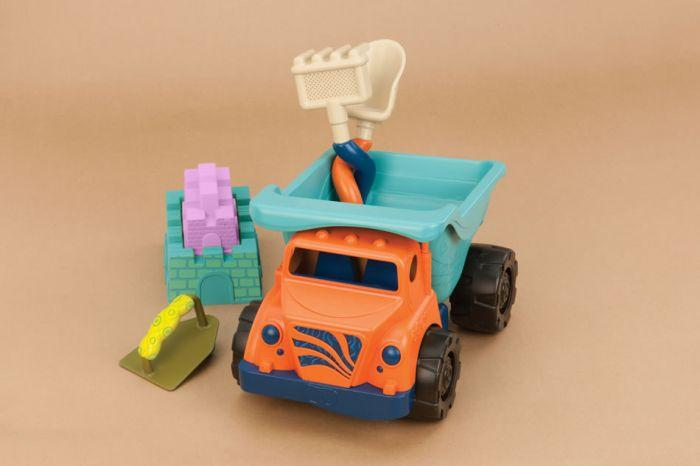 B. Sand Truck is an amazing beach toys to help boys build their next sandcastle.