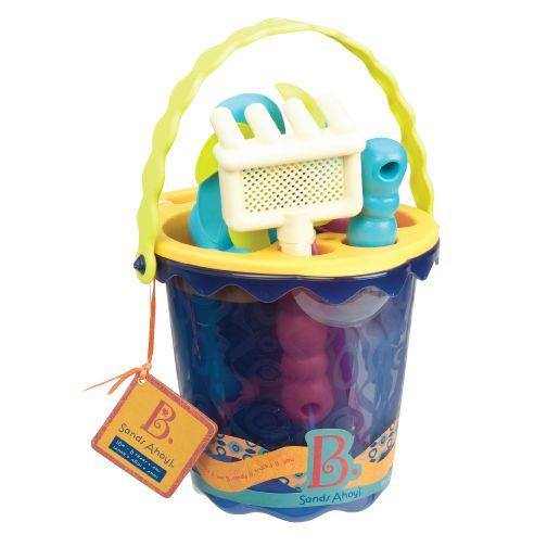 B. Sands Ahoy Medium Bucket Navy is an amazing beach toys for girls and boys.