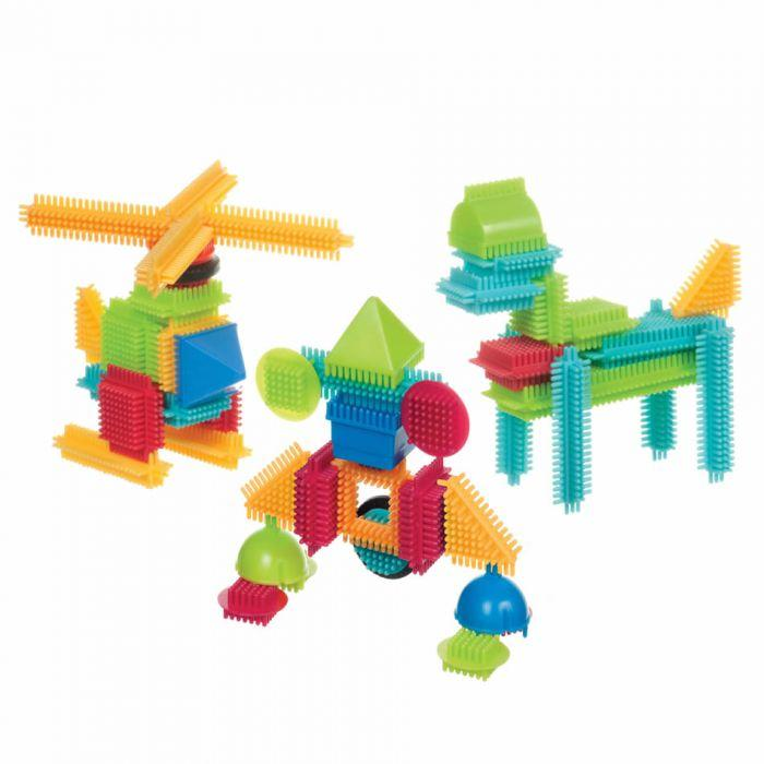 Bristle Blocks Basic Builder Box 56pc is great for kids imagination to create or design their own figures.