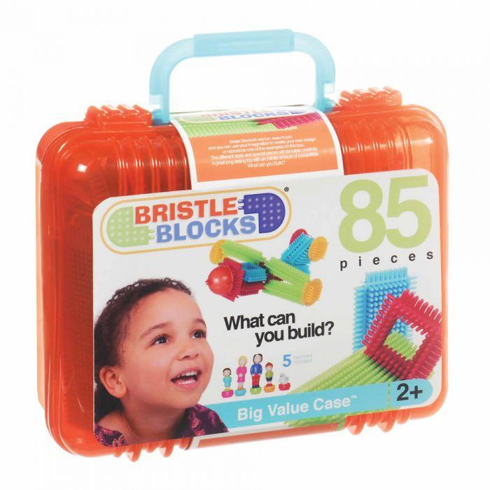 Bristle Block Big Value Case 85pc - The Toy Wagon