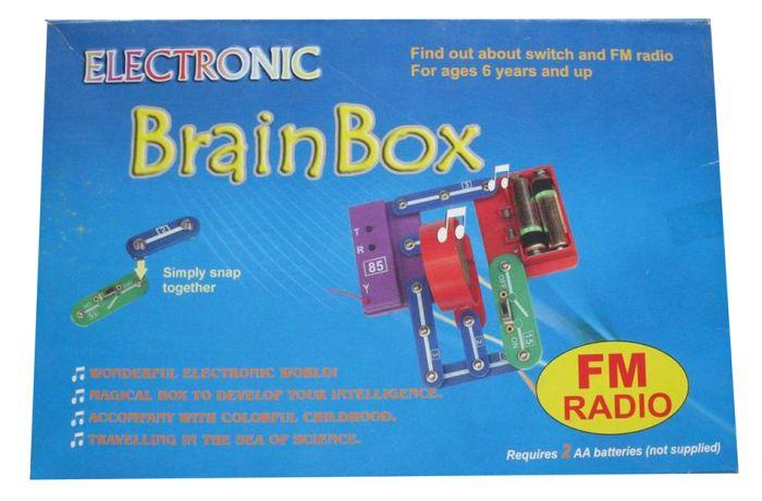 Brain Box FM Radio Experiment is an educational learning toy that kids can build themselves.