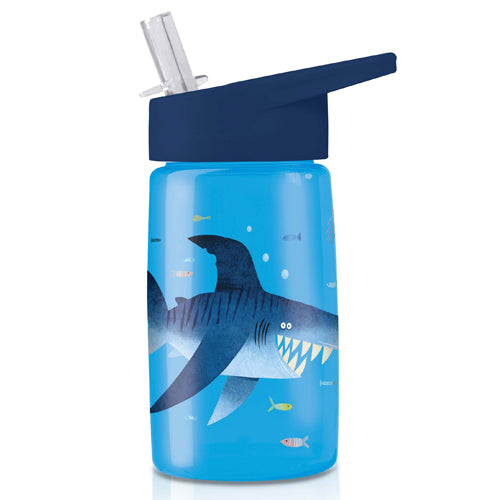 Crocodile Creek Tritan 450ml Drink Bottle Shark City perfect for lunch boxes or on the go The Toy Wagon