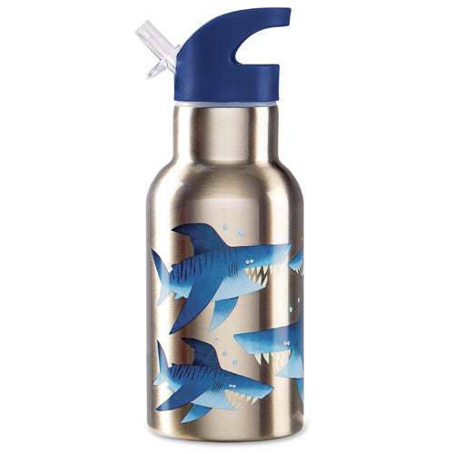 Crocodile Creek Stainless 400ml Drink Bottle Shark high quality to last for kids The Toy Wagon