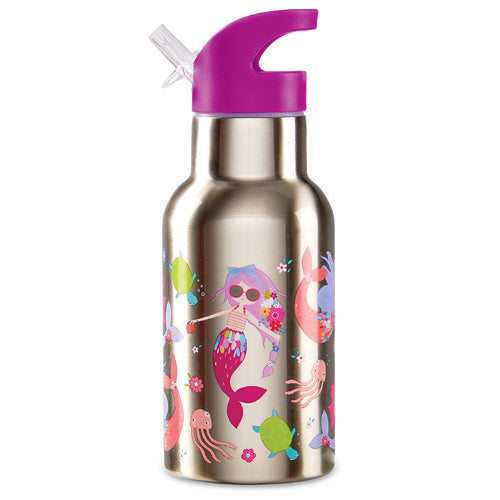 Crocodile Creek Stainless 400ml Drink Bottle Mermaids high quality to last for kids The Toy Wagon