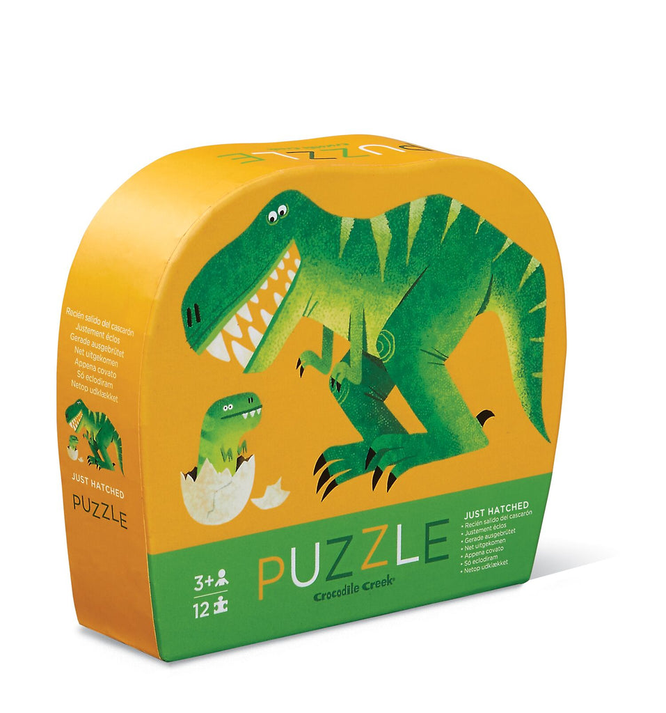 Crocodile Creek Mini Shaped Puzzle Just Hatched 12pc quality puzzle for kids eco friendly The Toy Wagon