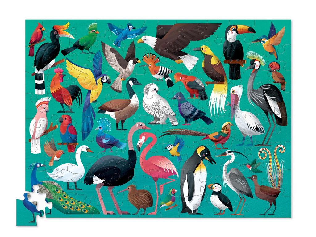 Crocodile Creek 36 Animal PuzzleBird 100pc quality puzzle for kids eco friendly The Toy Wagon