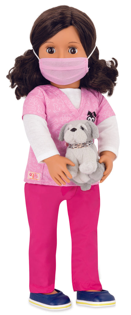 "Our Generation 18"" Professional Vet Doll - Paloma is an amazing doll for creative play for young girls."