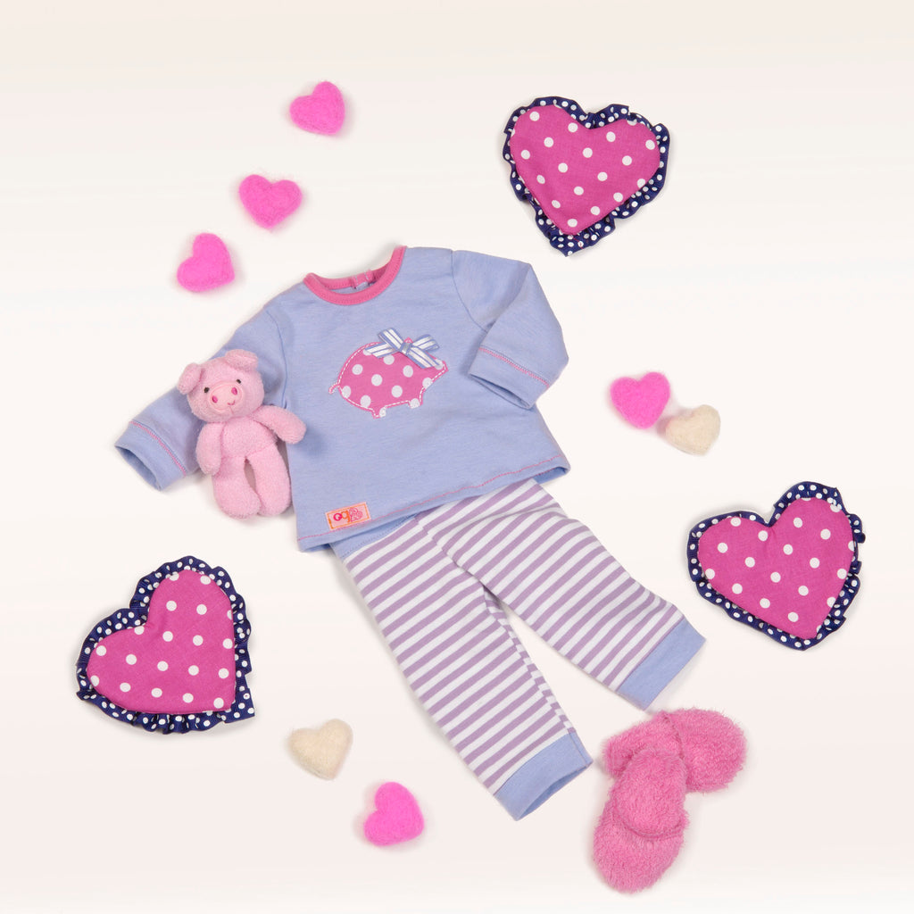Our Generation Regular Outfit - Piggy PJS Outfit is an amazing doll accessory for creative play for young girls The Toy Wagon