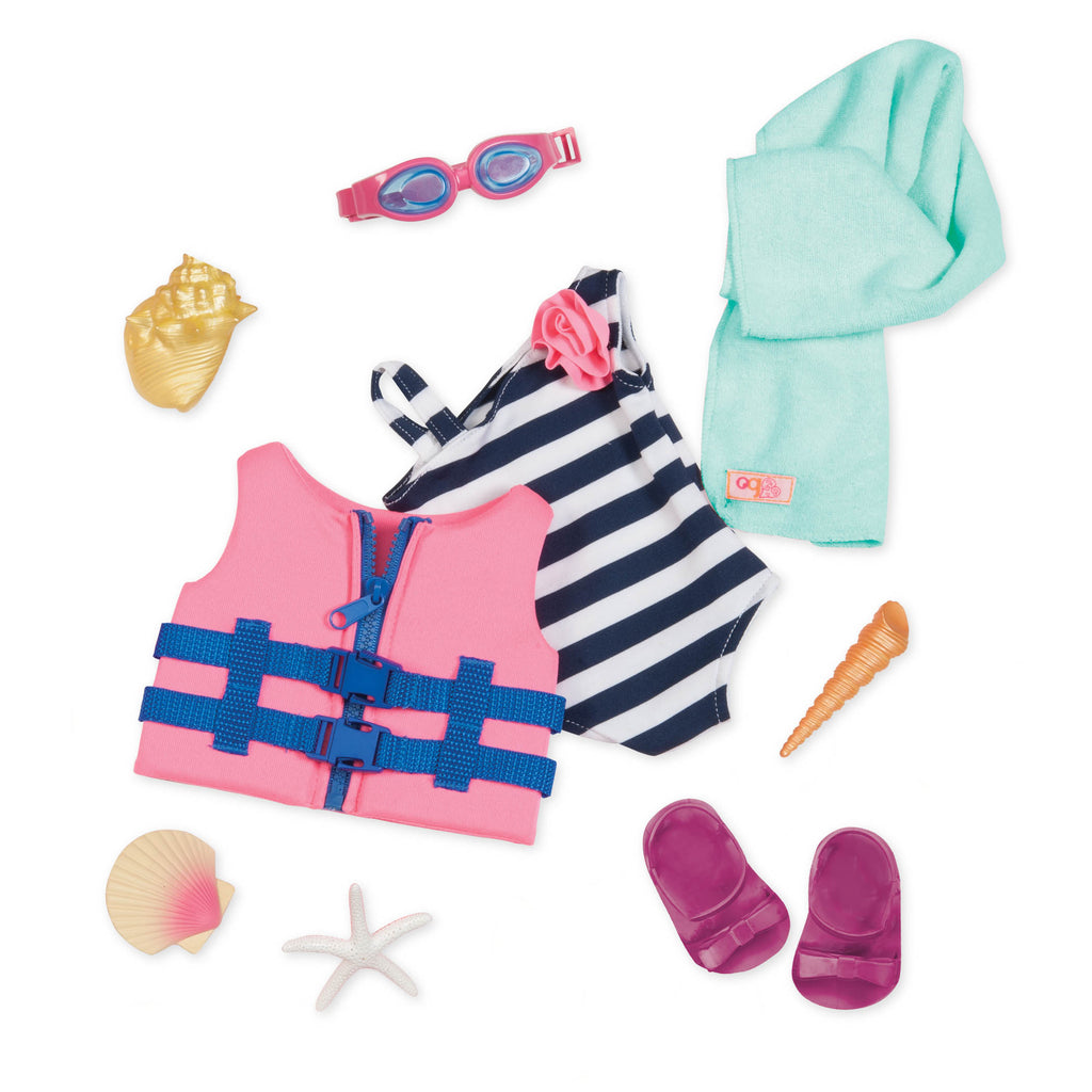 Our Generation Regular Outfit - Fun Day Sun Day is an amazing doll accessory for creative play for young girls The Toy Wagon