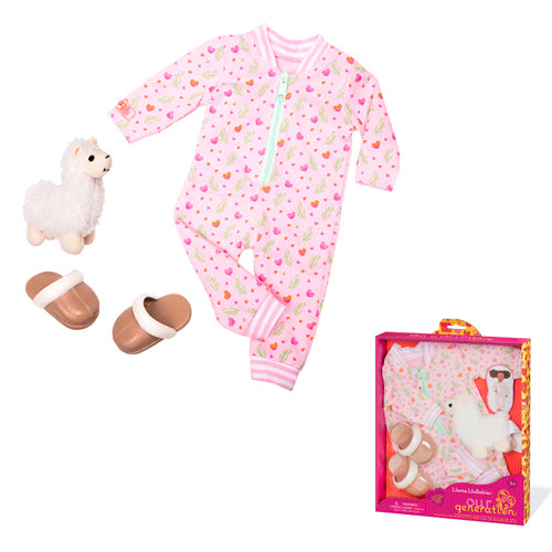 Our Generation Regular Outfit - Llama Pyjama Outfit is an amazing doll accessory for creative play for young girls The Toy Wagon