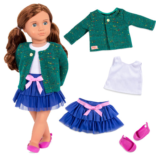 Our Generation Regular Outfit - Ruffle Skirt & Sweater is an amazing doll accessory for creative play for young girls The Toy Wagon