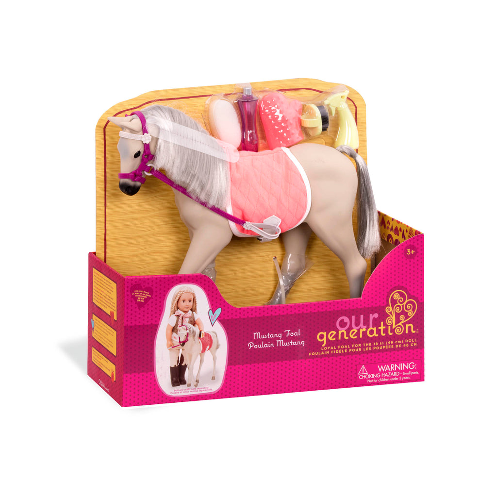 Our Generation Horse Foal - Mustang is an amazing doll accessory for creative play for young girls The Toy Wagon