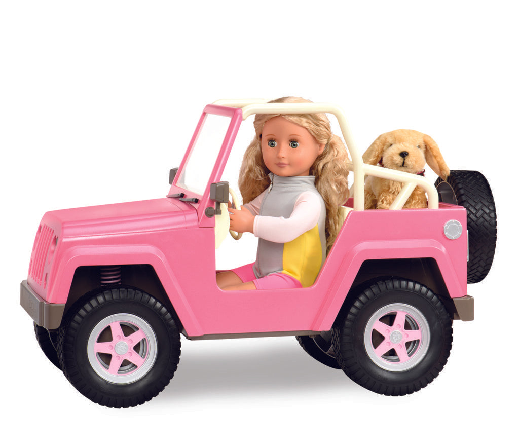 Our Generation Accessory - 4 x 4 Off Roader With Electronics is an amazing doll accessory for creative play for young girls The Toy Wagon