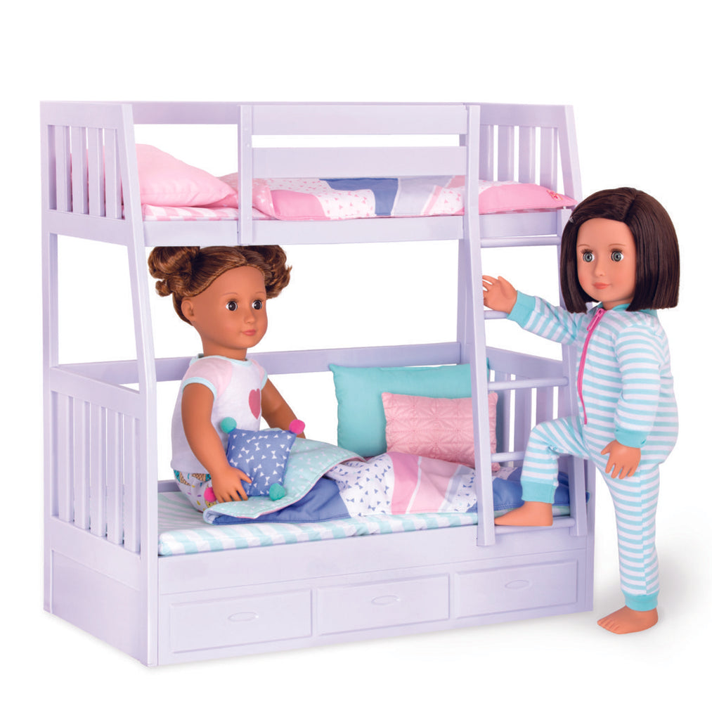 Our Generation Accessory - Bunk Bed is an amazing doll accessory for creative play for young girls The Toy Wagon