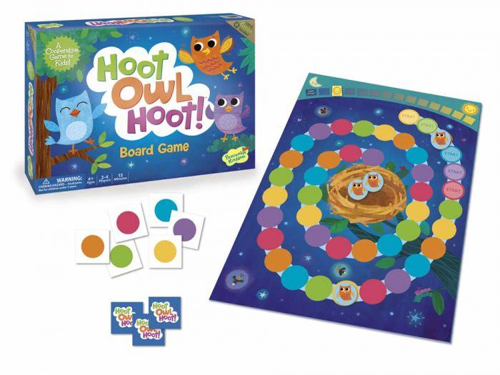 Peaceable Kingdom Cooperative Game - Hoot Owl Hoot! is the perfect board game that is a fun tool that helps children learn.
