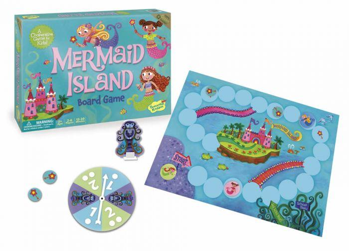 Peaceable Kingdom Cooperative Game - Mermaid Island is the perfect board game that is a fun tool that helps children and keeps them entertained.