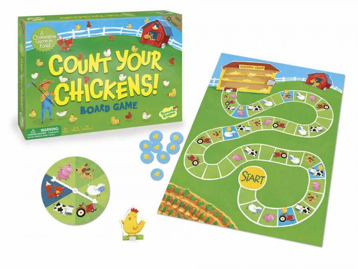 Peaceable Kingdom Cooperative Game - Count Your Chickens is the perfect board game that is a fun tool that helps children and keep them entertained.