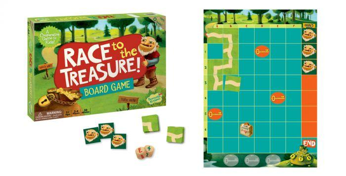 Peaceable Kingdom Cooperative Game - Race to the Treasure! is the perfect board game that is a fun tool that helps children learn.