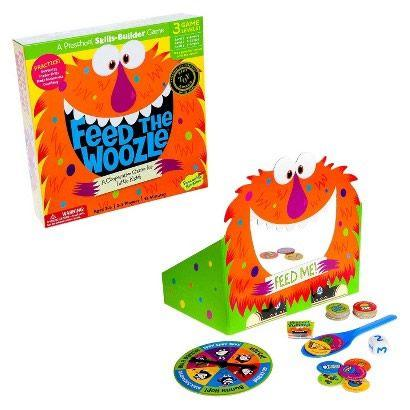 Peaceable Kingdom Cooperative Game - Feed the Woozle is the perfect game that is a fun tool that helps children learn.