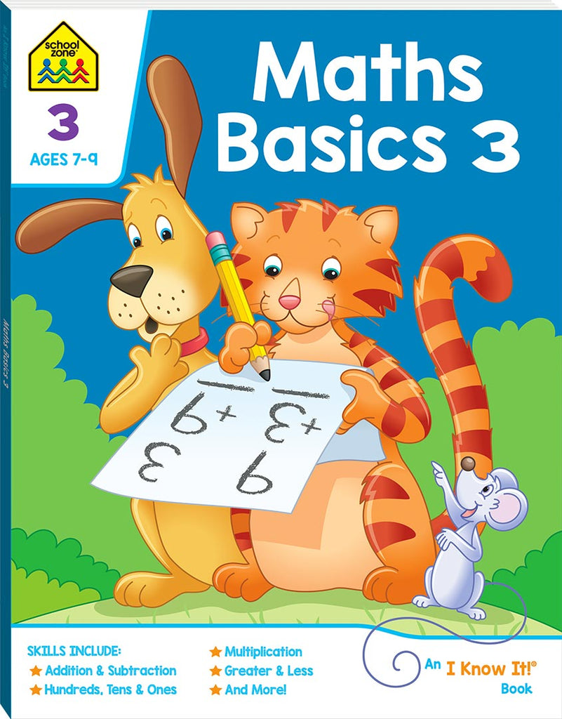 School Zone I know it: Maths Basics 3 educational activity book for kids The Toy Wagon