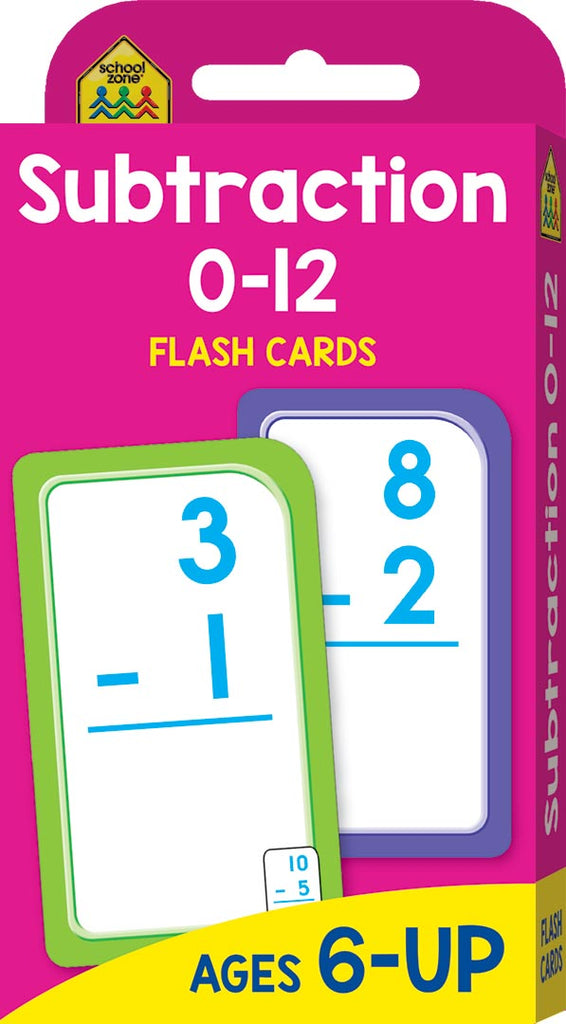 School Zone Flash Cards : Subtraction educational activity book for kids The Toy Wagon