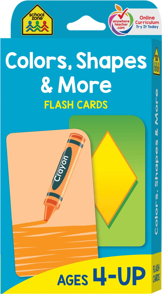 School Zone Flash Cards : Colours Shapes & More educational activity book for kids The Toy Wagon