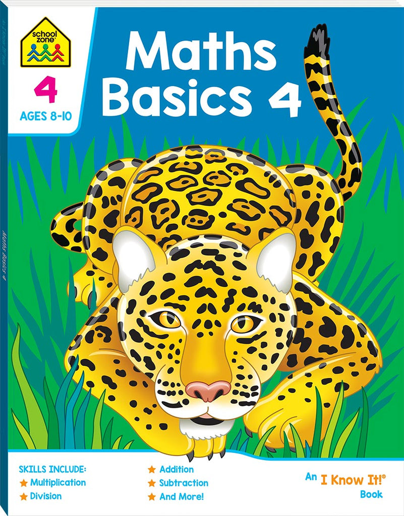 School Zone I know it: Maths Basics 4 educational activity book for kids The Toy Wagon
