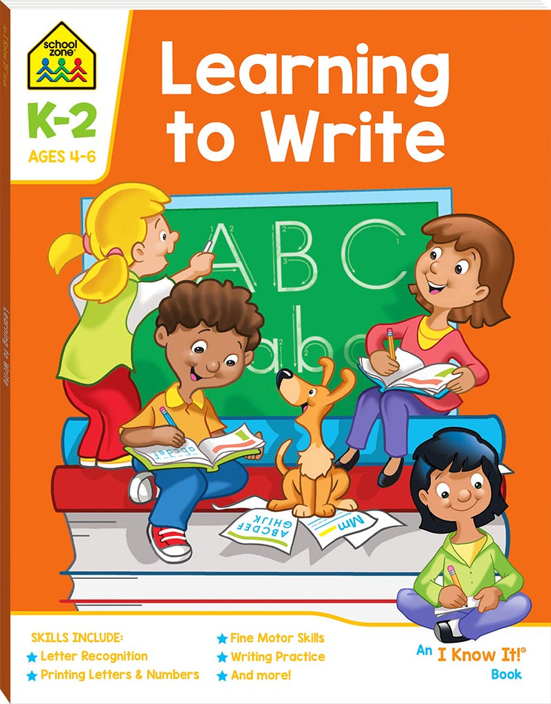 School Zone I know it: Learning to Write educational activity book for kids The Toy Wagon