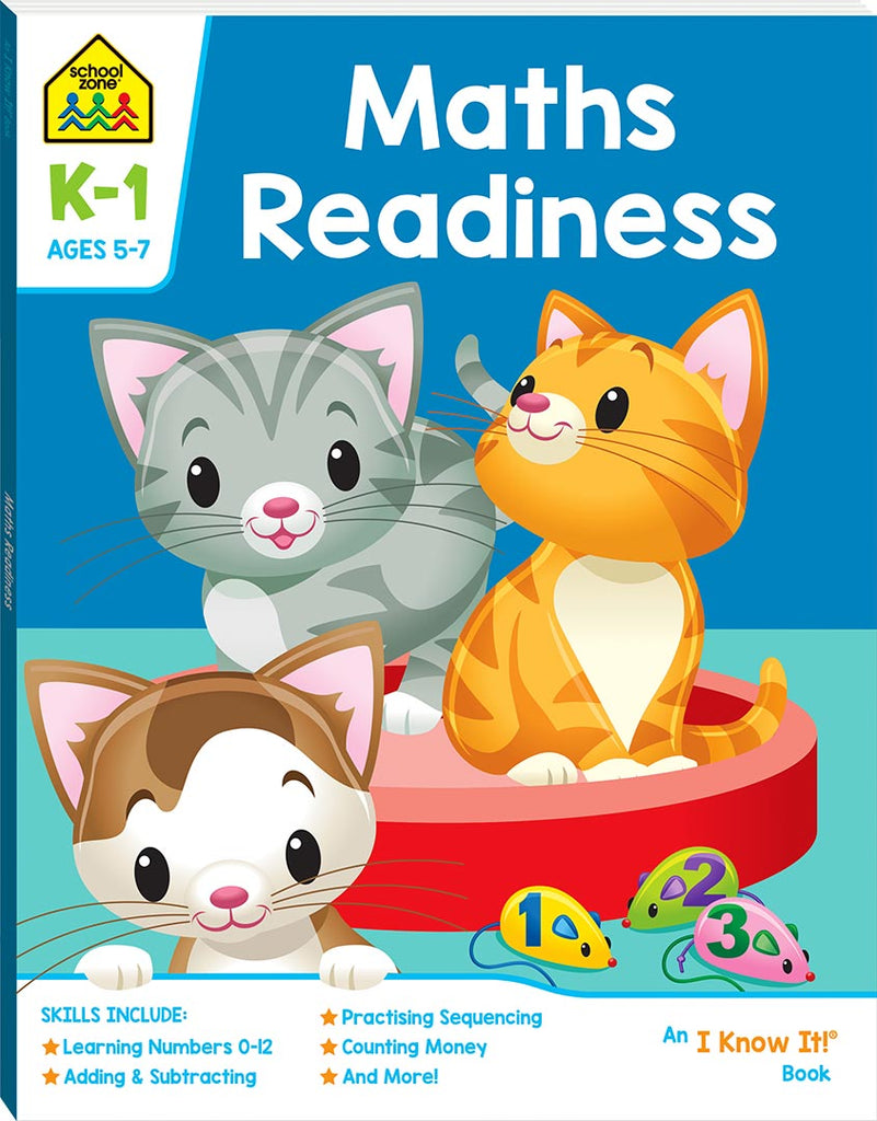 School Zone I know it: Maths Readiness educational activity book for kids The Toy Wagon