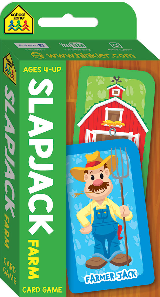 School Zone Card Games: Slapjack educational activity book for kids The Toy Wagon