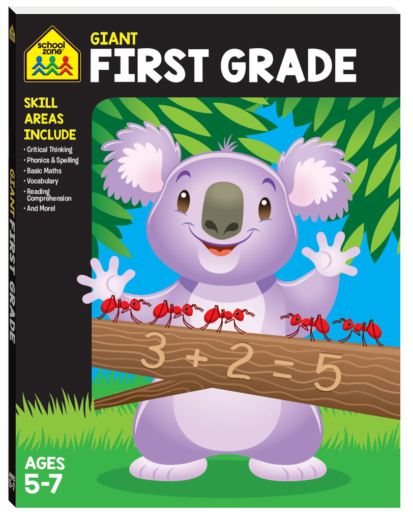 School Zone Giant Workbooks: First Grade educational activity book for kids The Toy Wagon