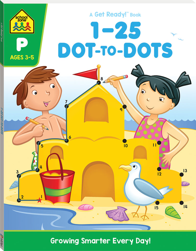 School Zone Get Ready! 1-25 Dot-To-Dot educational activity book for kids The Toy Wagon