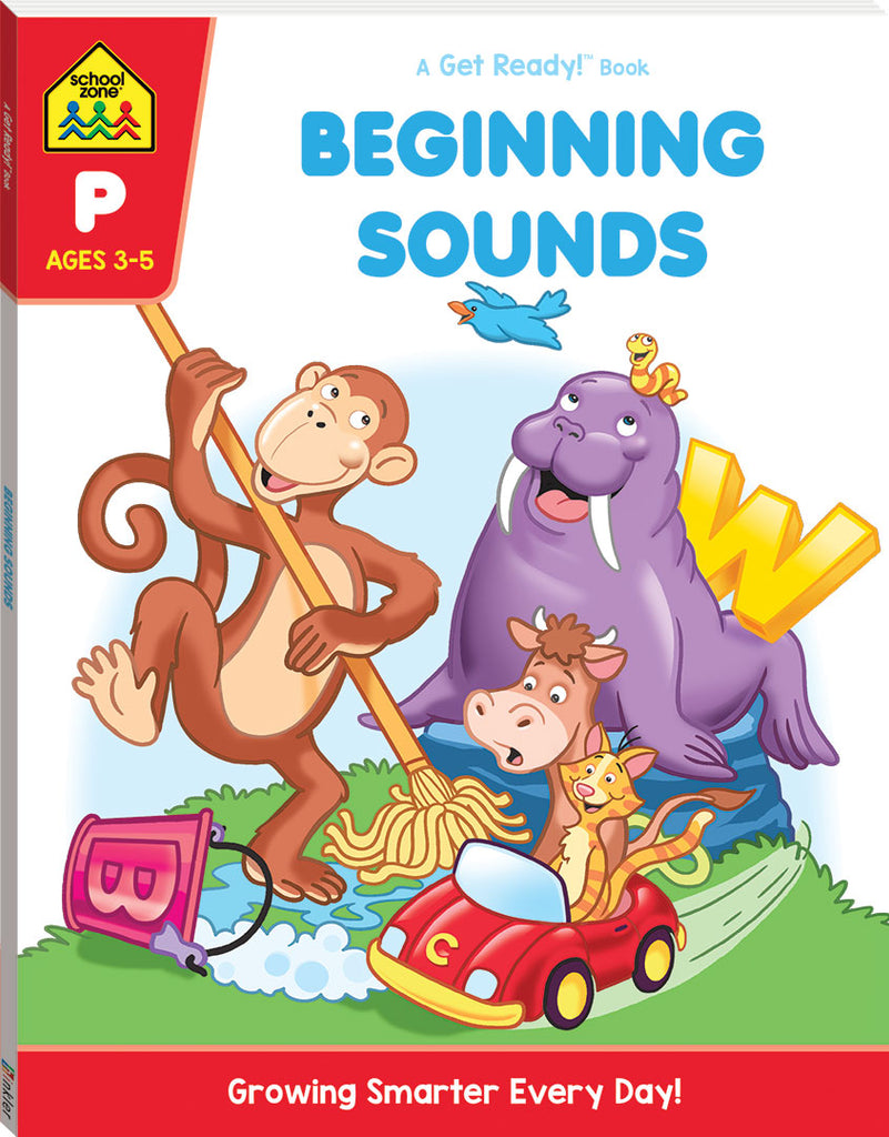 School Zone Activity Zone Beginning Sounds educational activity book for kids The Toy Wagon