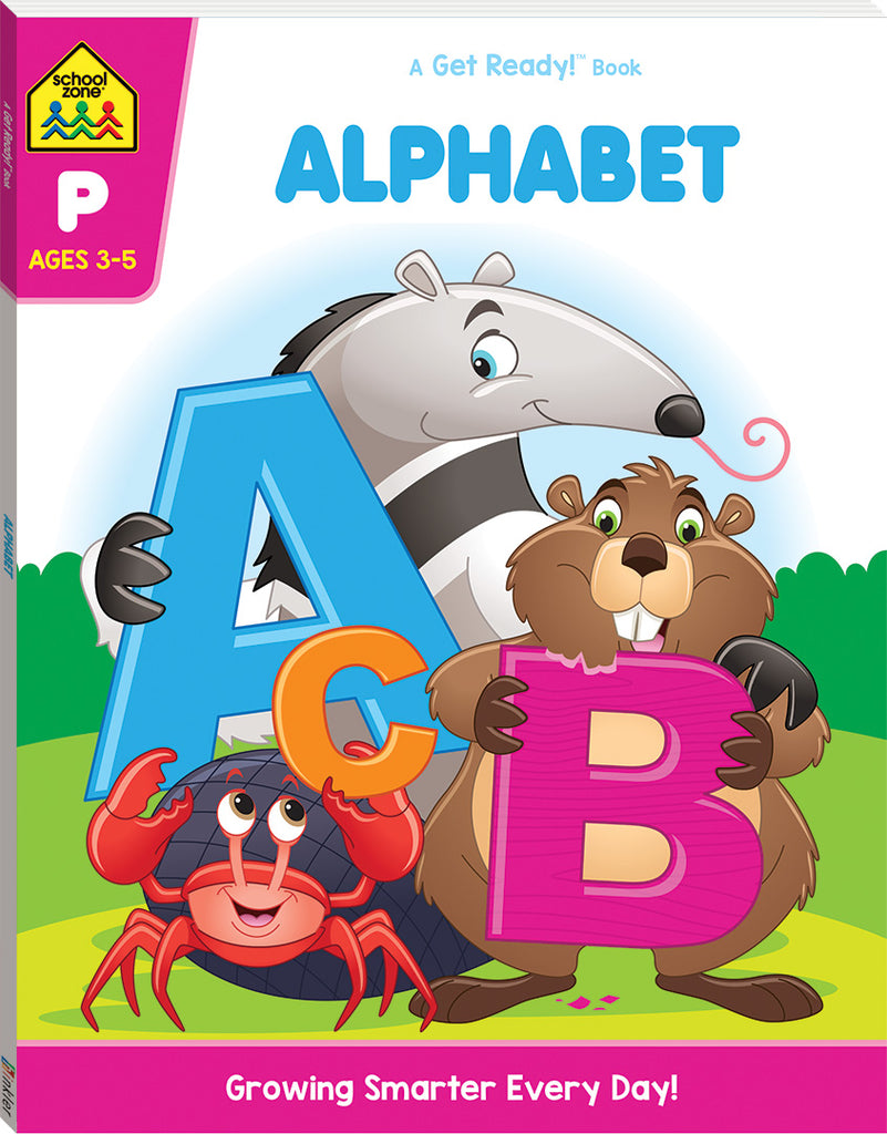 School Zone Get Ready! Alphabet educational activity book for kids The Toy Wagon