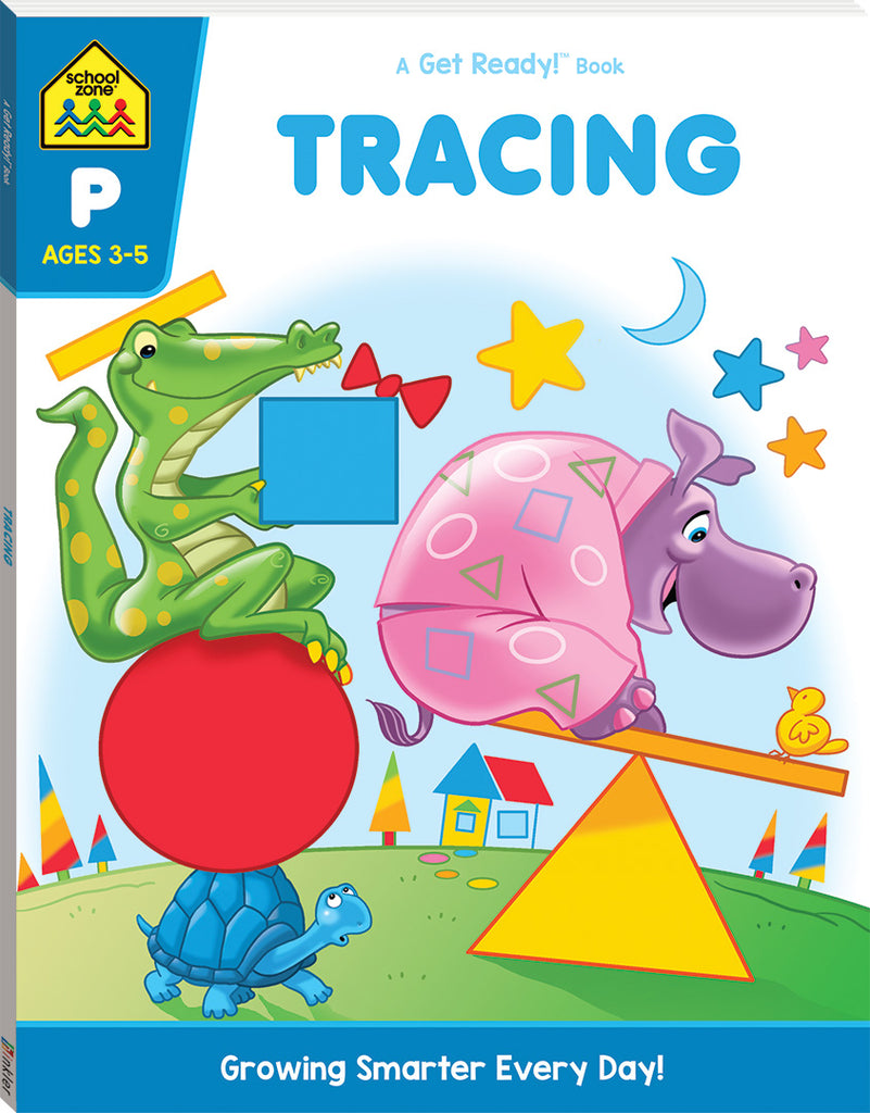 School Zone Get Ready! Tracing Trails educational activity book for kids The Toy Wagon
