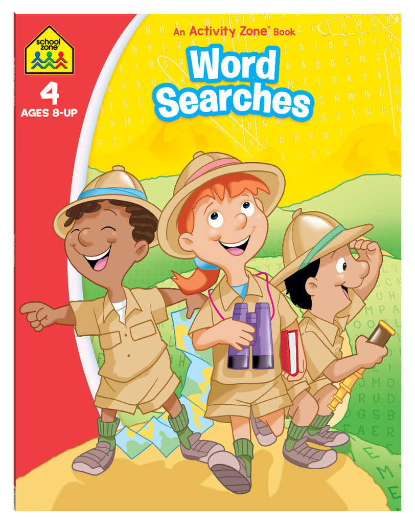 School Zone Word Searches Activity Zone Book educational activity book for kids The Toy Wagon