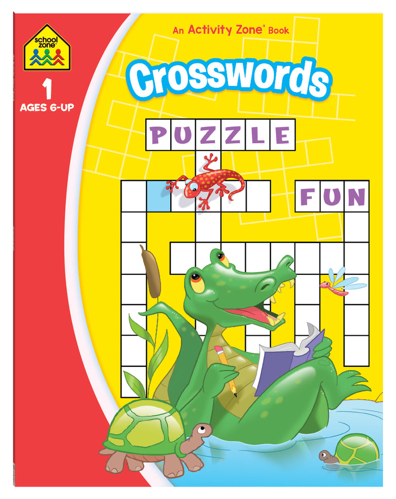 School Zone Crosswords Activity Zone Book educational activity book for kids The Toy Wagon