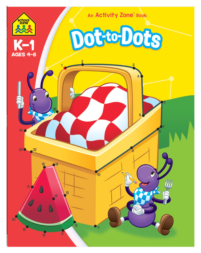 School Zone Activity Zone Dot-To-Dots educational activity book for kids The Toy Wagon