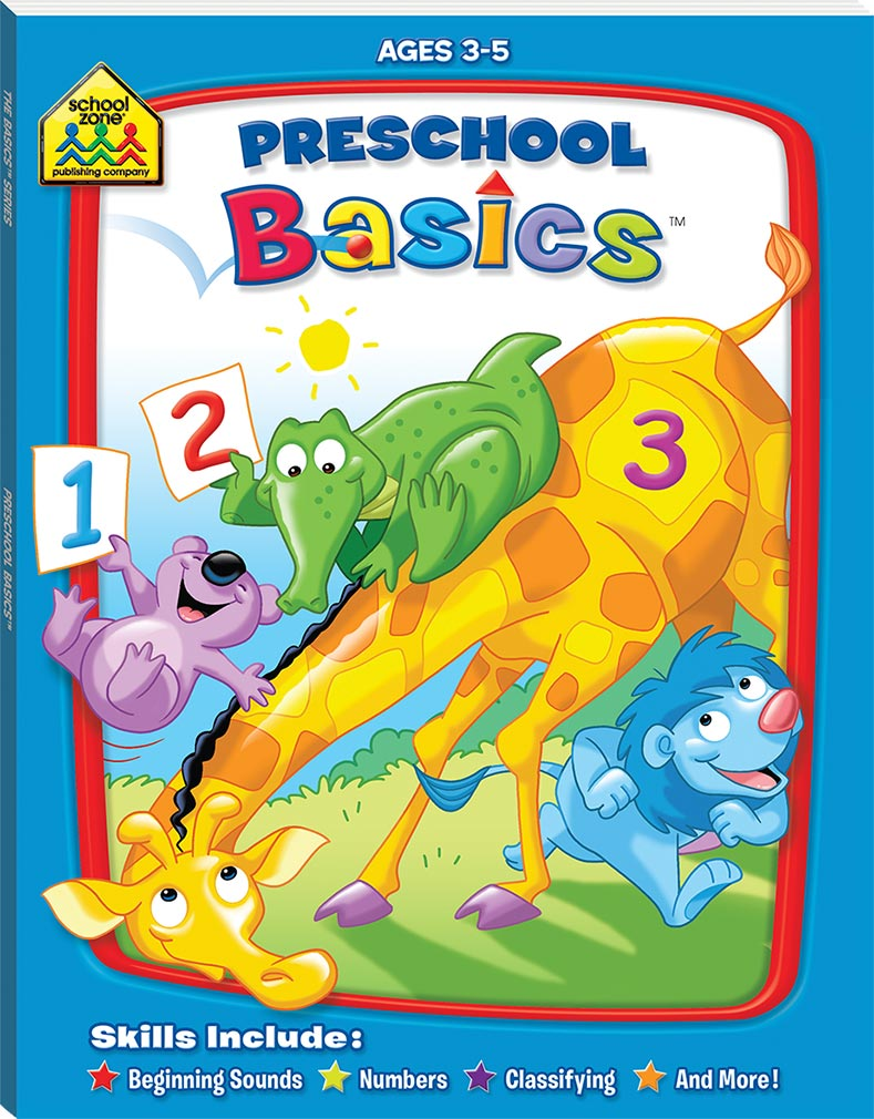 School Zone Basic Deluxe: Preschool Basics educational activity book for kids The Toy Wagon