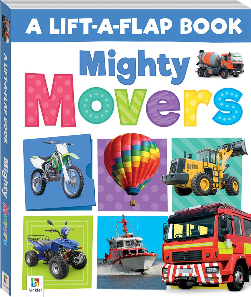 Lift-a-Flap Book - Mighty Movers baby book The Toy Wagon