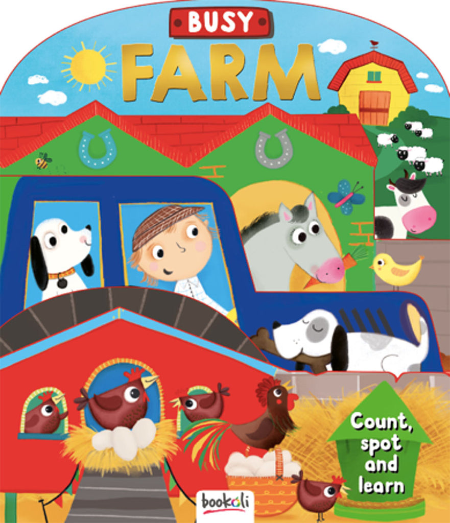 3D Boards Busy Farm baby book The Toy Wagon