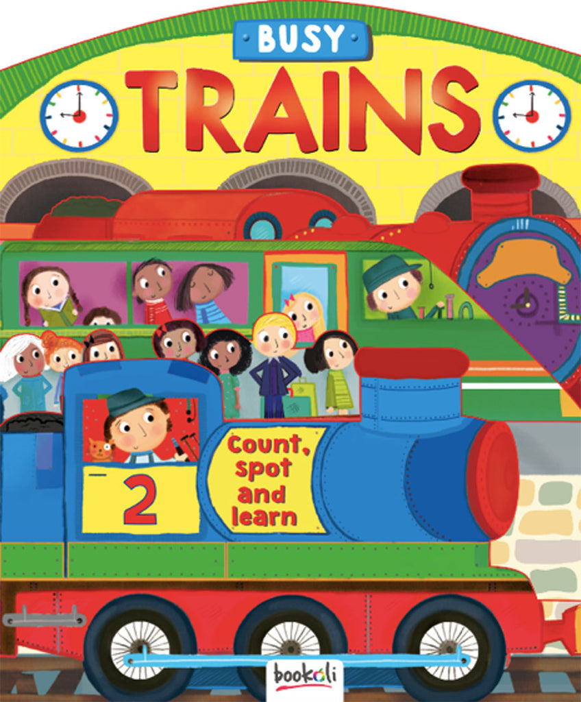 3D Boards Busy Trains baby book The Toy Wagon